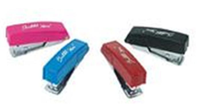 Mini Grampeador c/grampos cores sortidas