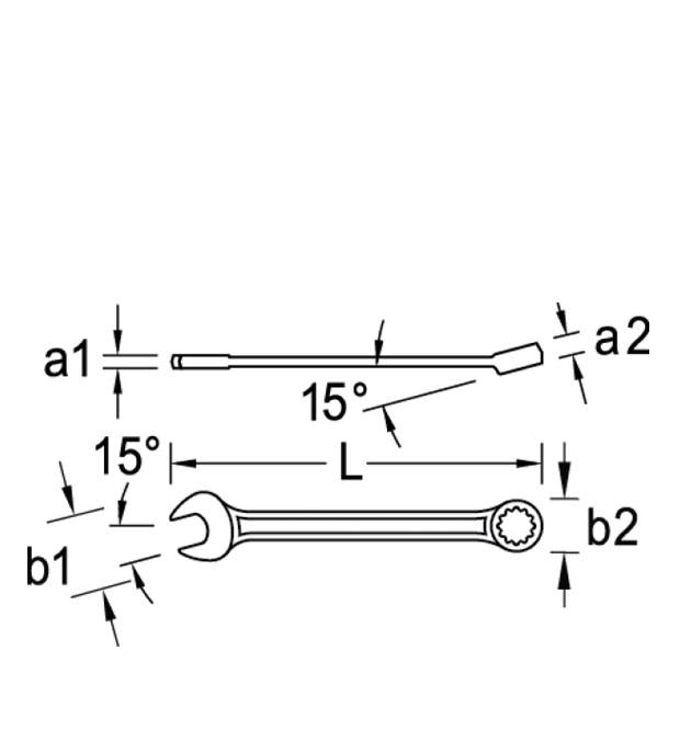 Chave combinada reta - 6mm - STANLEY