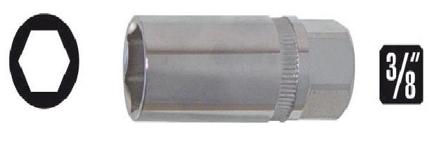 Soquetes para velas de ignição 16mm enc. 3/8