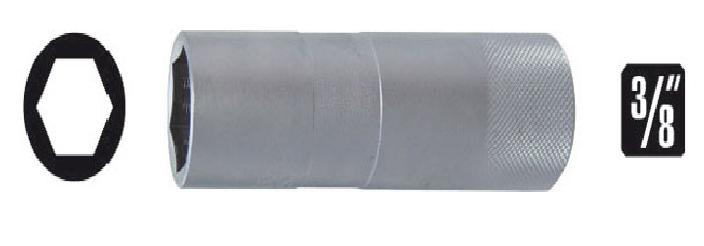 Soquetes para velas de ignição 16mm enc. 3/8 comp. 90mm