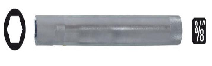 Soquetes para velas de ignição 16mm encaixe ■ 3/8 x 250mm longo KL-0127-46 Gedore Klann