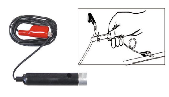 Testador de faísca para cabos de vela