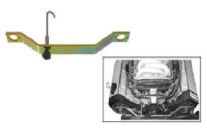 Ferramenta para posicionar os eixos de comandos de válvulas VW e Audi V6 KL-0280-11 GEDORE KLANN