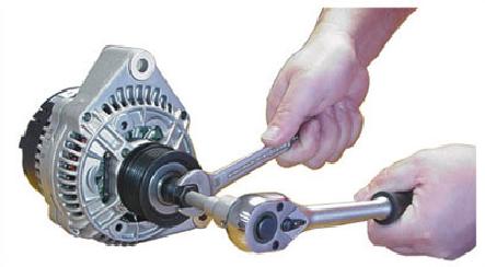 Chave para Alternador Soquete Multidentado M10 Encaixe ■ 1/2   140mm e Adaptador Externo 33 Dentes  KL-0284-38