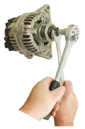 Chave para Alternador Torx® T50 Encaixe Sextavado 12mm Comprimento 64mm  e Adaptador Externo 33 Dentes Encaixe Sextavado 21mm  KL -0284-29 Klann -Gedore