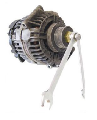 Chave para Alternador Soquete Multidentado M10 Encaixe ■ 1/2   110mm e Adaptador Externo sextavado 28 mm  KL-0284-37