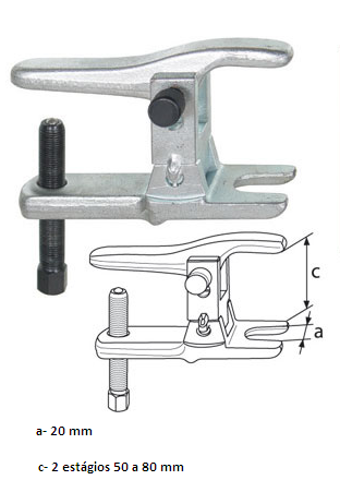 Extrator de Pivôs de Suspensão e Terminais Articulados Esférico das Barras de Direção 50 mm a 80 mm KL-0163-2 Gedore Klann