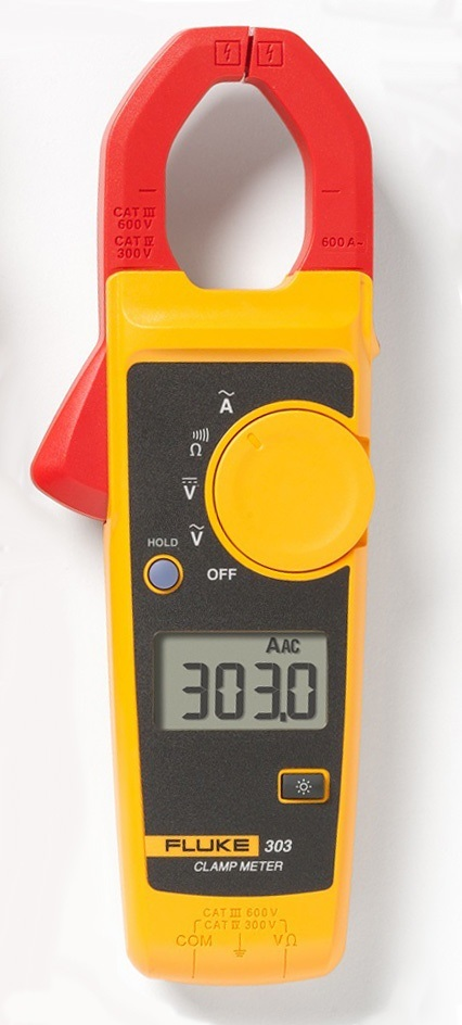 Alicate amperímetro digital 303 CAT.III 600 VOLT.- FLUKE
