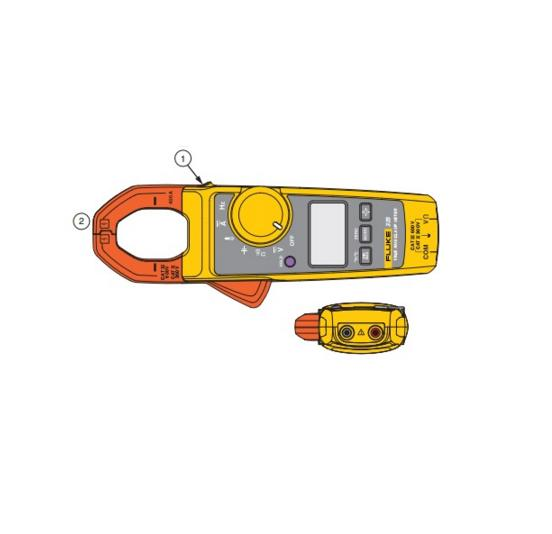 Alicate amperímetro digital True RMS 324 CAT. III 600 V - FLUKE