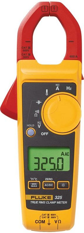 Alicate amperímetro digital True RMS 325 CAT. III 600 V - FLUKE