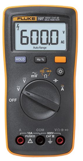 Multímetro digital portátil 107 IV 600V
