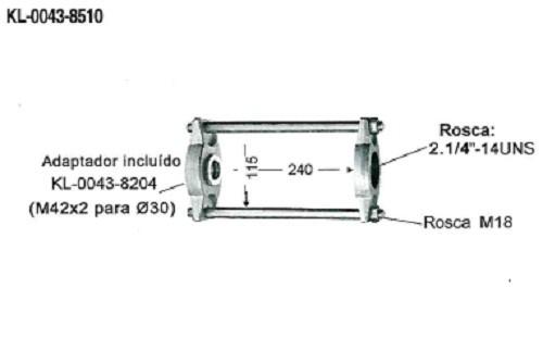 Conjunto de Ferramentas Para Extração de Buchas e Pivôs KL-0043-85 - Com Cilindro Hidráulico 17Ton - Klann
