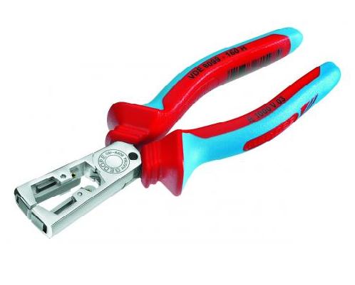 Alicate desencapador de fios para terminais 6.1/2 pol (160 mm) VDE 8099-160H isolado 1000V GEDORE