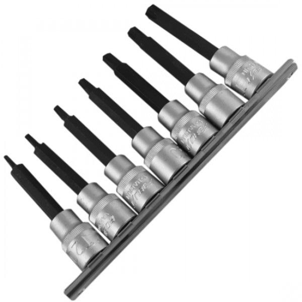 """Jogo de chaves soquete com perfil Torx® longas - 505 ■ 1/2"""" - COM 7 peças - ROBUST - GEDORE"""