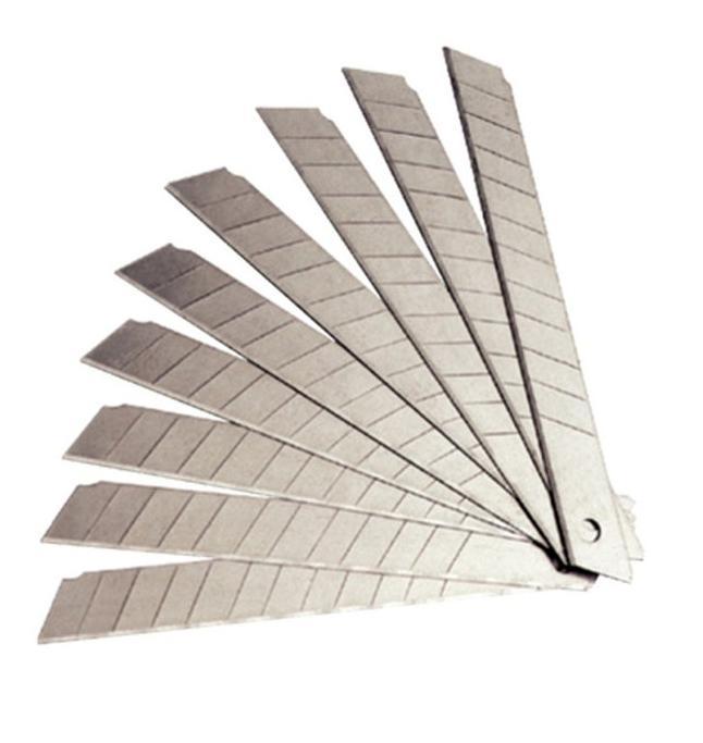 LAMINA PARA ESTILETE - 9,5mm - CARTUCHO PLASTICO COM 10 PEÇAS - Vogel