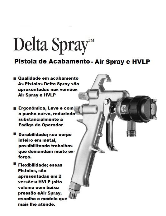 PISTOLA DELTA SPRAY - HVLP 100 PSI - 239-560 GRACO
