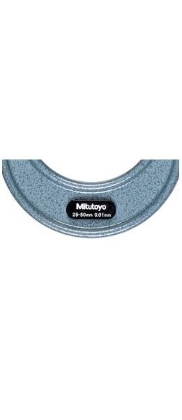 MICROMETRO EXTERNO 103-138 CAPACIDADE 25 A 50 MILIMETROS GRADUAÇÃO 0,01COM CATRACA - MITUTOYO