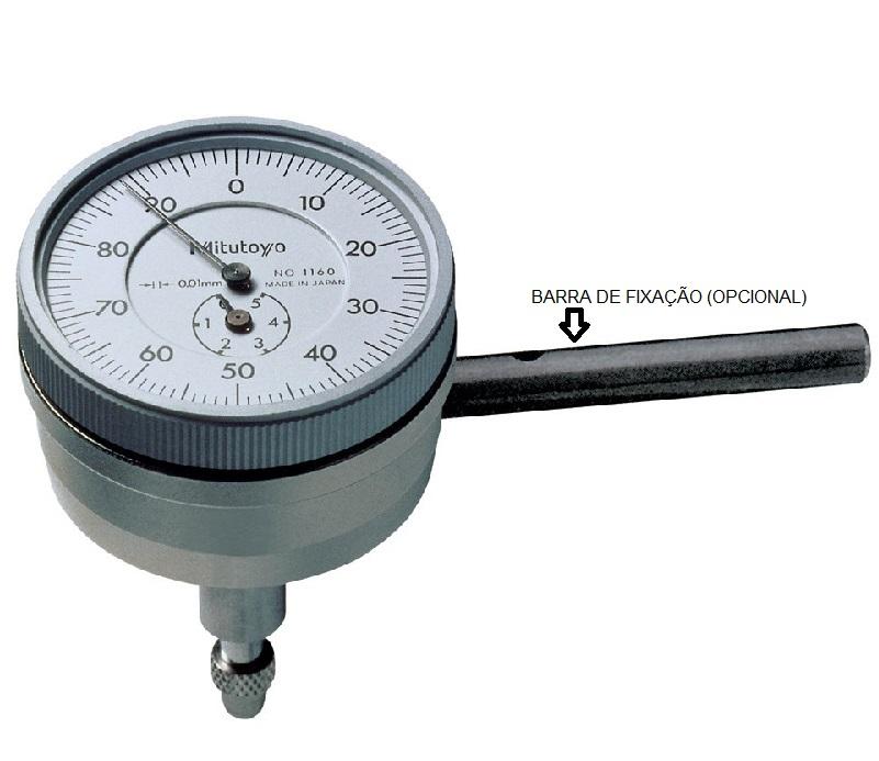 RELÓGIO COMPARADOR COM FUSO PERPENDICULAR CAPACIDADE/VOLTA  0,01 - 5MM (1MM) - 1160T - MITUTOYO