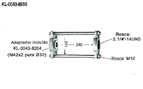 Conjunto de Ferramentas Para Extração de Buchas e Pivôs KL-0043-850 - Sem Cilindro Hidráulico - Klann