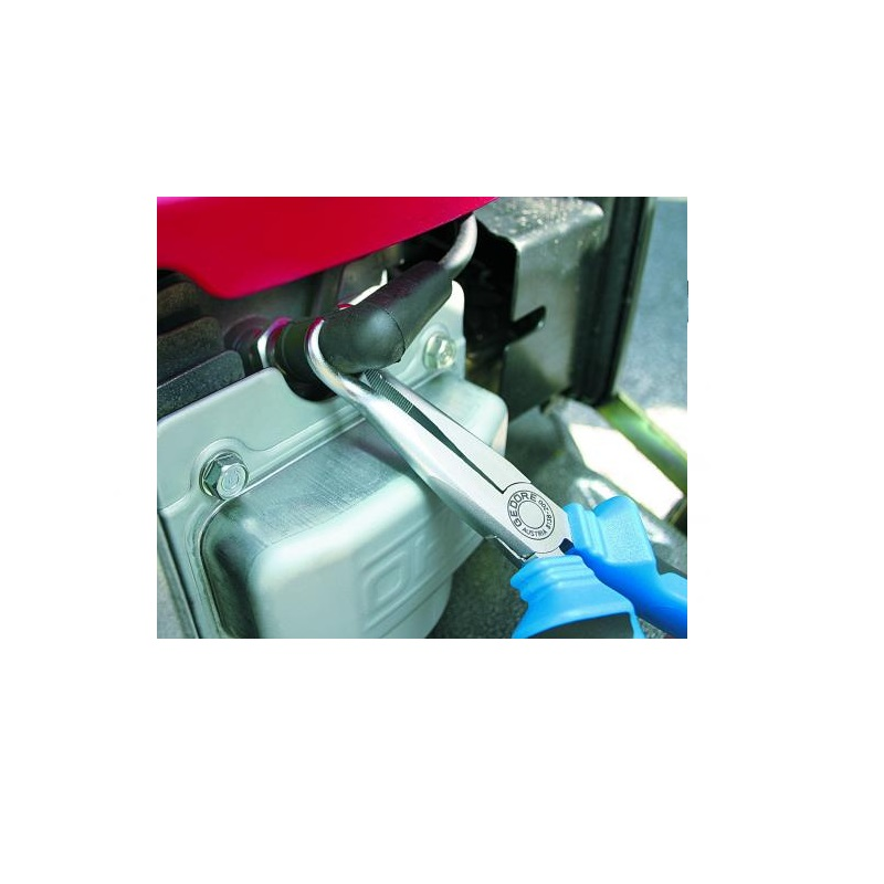 Alicate de Bico Meia Cana Semi Redondo Sem Corte 8 pol (200mm) Isolado - 8138-200 JC - Gedore