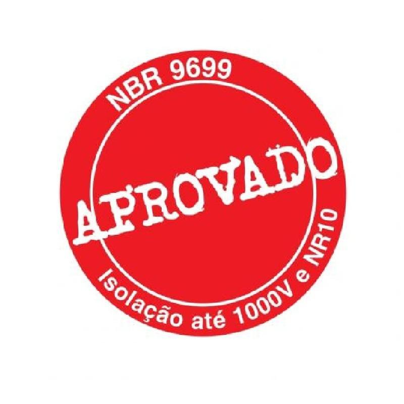 Alicate de Bico Meia Cana Curvo (Tipo Telefone) 8 pol (200mm) Isolado 1000V NR10 - 8132-200A IOX - Gedore