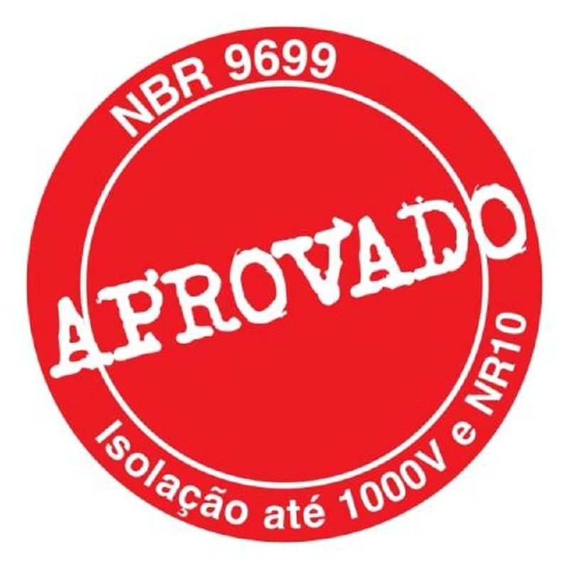 Alicate de Bico Meia Cana Curvo (Tipo Telefone) 8 pol (200mm) Isolado 1000V NR10 - 8132 AB-200 JC - Gedore