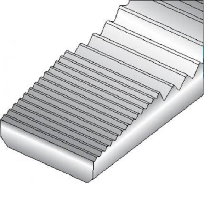 Alicate de Bico Meia Cana Reto (Tipo Telefone) 6.1/4 pol (160mm) Isolado 1000V - 8132-160 JC - Gedore