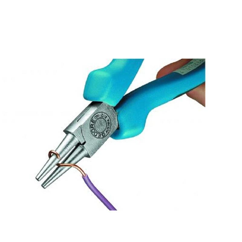 Alicate de Bico Redondo e Curto 5.1/2 pol (140mm) Isolado 1000V - 8112-140 JC - Gedore