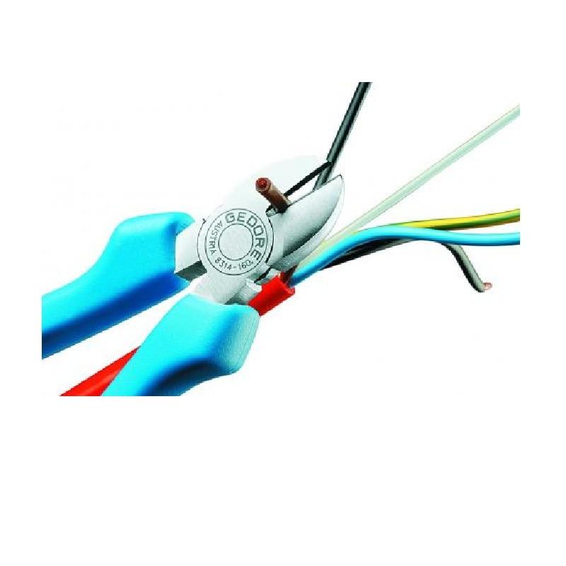 Alicate de Corte Diagonal 5.1/4 pol (140mm) Mod. Sueco Isolado 1000V - 8314-140 JC - Gedore