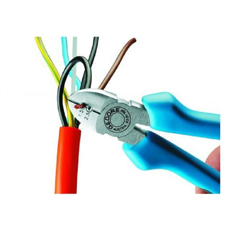 Alicate de Corte Diagonal 6.1/2 pol (160mm) Para Desencapar Fios Isolado 1000V  - 8315-160 JC - Gedore