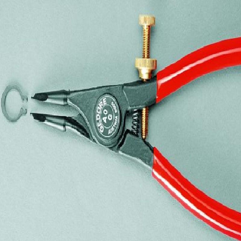 Alicate Para Anéis Externos Com Regulagem Pontas Curvas 30 Graus 140 mm Abertura 1,5 - 3,5 mm - 8000 A 0G - Gedore