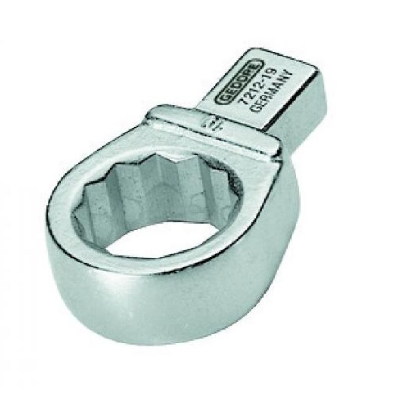 Chave Estrela  Intercambiável Para Torquímetro Encaixe  9 x 12mm  - 19 mm - 7212-19 - Gedore