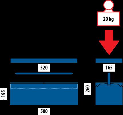 Caixa Baú Com Bandeja - 50cm - 1340 - Sem Ferramentas - GEDORE