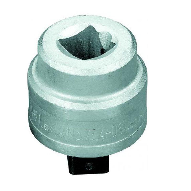 """Catraca Para Torquímetro de Estalo Dremometer  - Enc. ■ 1"""" (25,40 mm) - Sentido Horário - 754-06 - Gedore"""