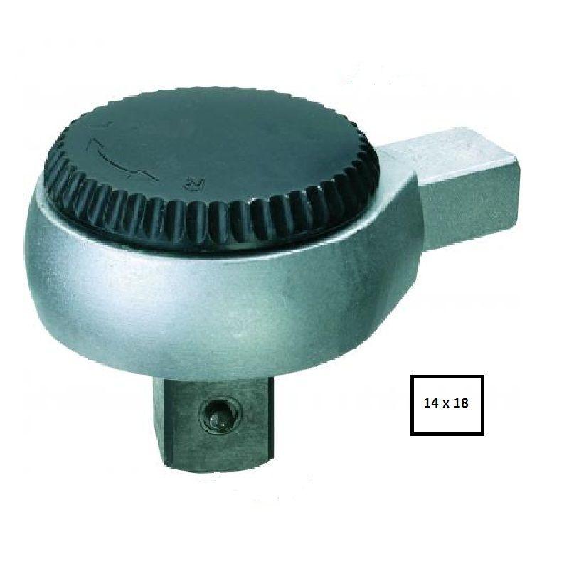 "Chave Catraca Reversível Intercambiável Para Torquímetro Encaixe 14 x 18mm  -  1/2"" - 7418-02 - Gedore"