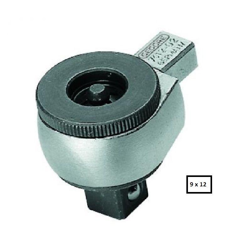"Chave Catraca Reversível Intercambiável Para Torquímetro Encaixe  9 x 12mm  -  3/8"" - 7412-01 - Gedore"