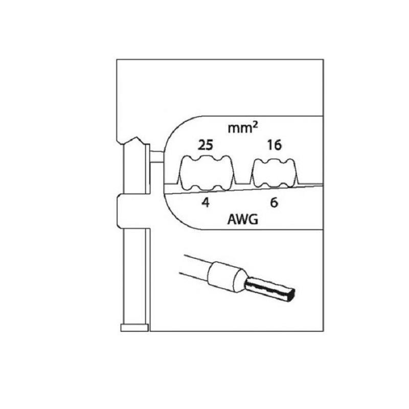 Inserto Para Alicate Crimpador Buchas 16 - 25 mm - 8140-07 - Gedore