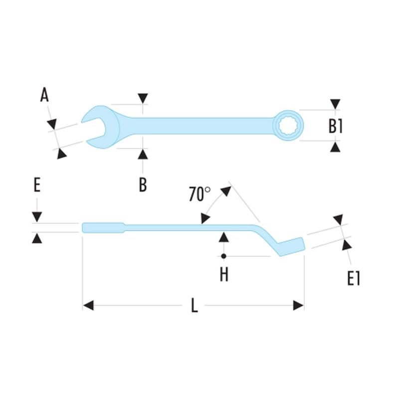 Jogo de Chaves Combinada Anguladas - 18 Peças - 41.JE18 - Facom
