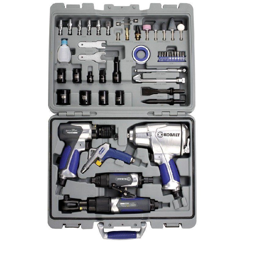 Jogo de Ferramentas Pneumáticas 5O Peças -  Maquinas + Acessórios - Kobalt