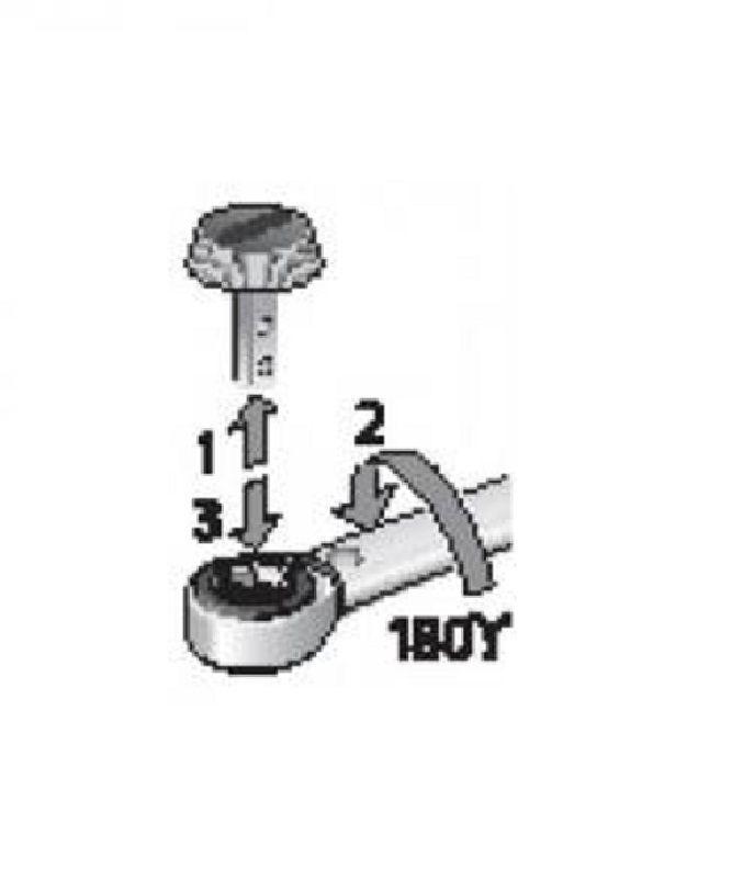 """Torquímetro de Estalo Dremaster """"DMK""""  - Enc. ■ 1/2"""" (12,70 mm)  -   20 a 100 Nm (15-75 Lbf.pé) - DMK 100 - Gedore"""