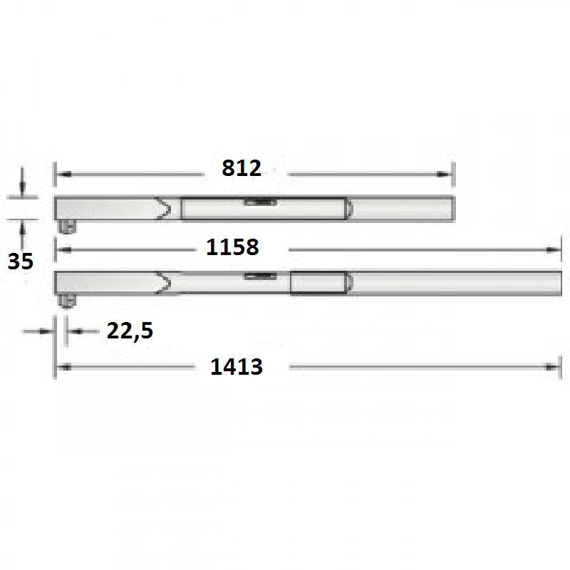 "Torquímetro de Estalo Dremometer "" DXL "" - Enc. ■ 3/4"" (19,05 mm)  - 520 a 1000 Nm (380-730 Lbf.pé) Pino Duplo - 8576-01 - Gedore"