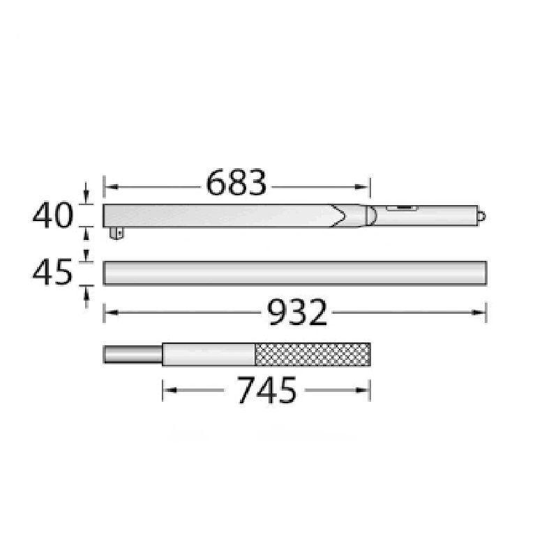 "Torquímetro de Estalo Dremometer "" EL "" - Enc. ■ 1"" (25,40 mm)  - 750 a 2000 Nm Pino Duplo - 8569-01 - Gedore"