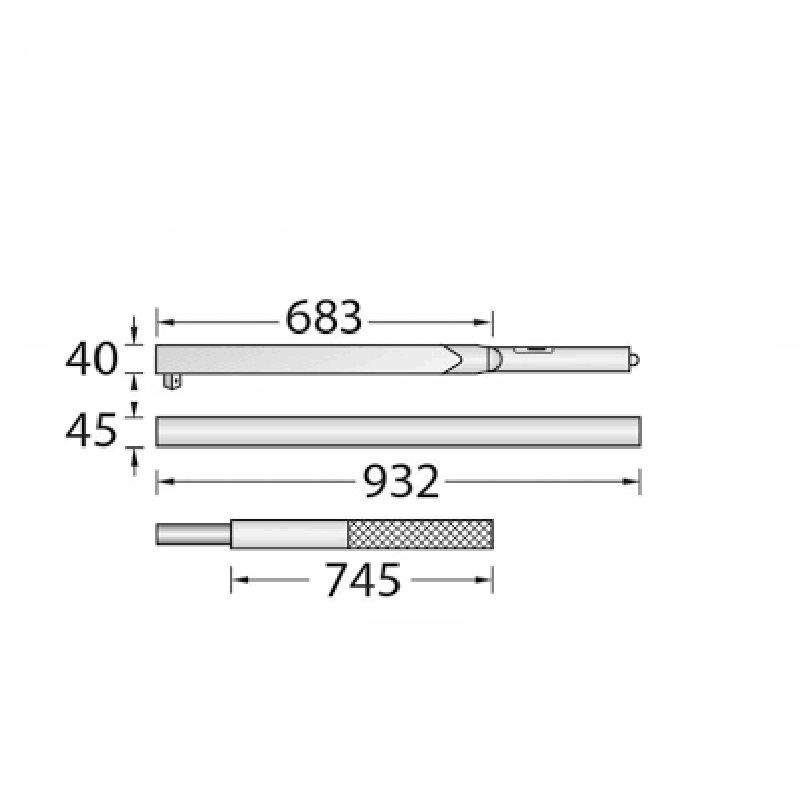 "Torquímetro de Estalo Dremometer "" F "" - Enc. ■ 1.1/2"" (38,10 mm)  - 1500 a 3000 Nm - 8572-01 - Gedore"