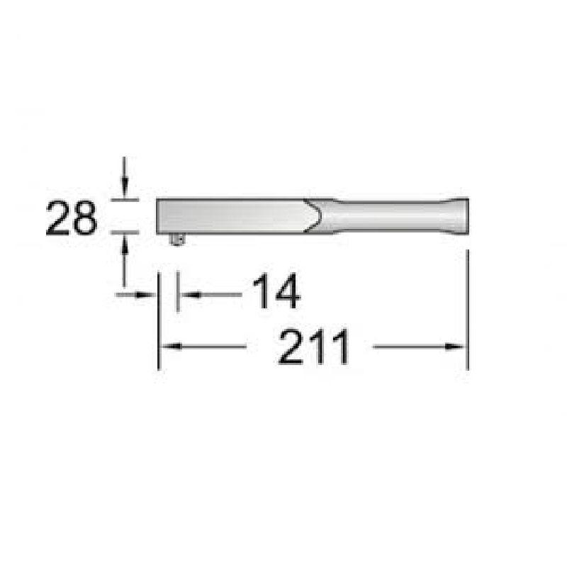 "Torquímetro de Estalo Dremometer "" Mini"" - Enc. ■ 1/4"" (6,35 mm)  - 2,5 a 12 Nm (22-106 Lbf.pol) - 753-11 - Gedore"