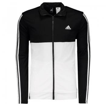 Agasalho Adidas Back 2 Basics 3 Stripes Preto e Branco
