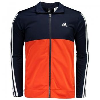 Agasalho Adidas Back 2 Basics 3 Stripes Marinho e Laranja