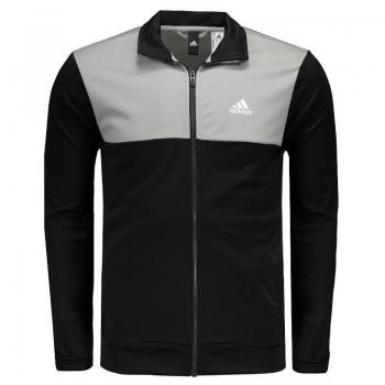 Agasalho Adidas Back 2 Basics Preto e Cinza