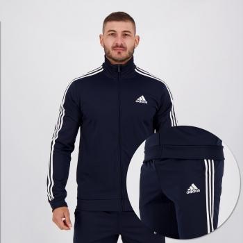 Agasalho Adidas Essentials 3 Listras Tricot Marinho