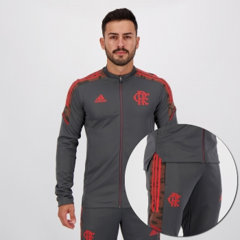 Agasalho Adidas Flamengo Chumbo