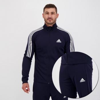 Agasalho Adidas Sereno 3 Stripes Azul Marinho